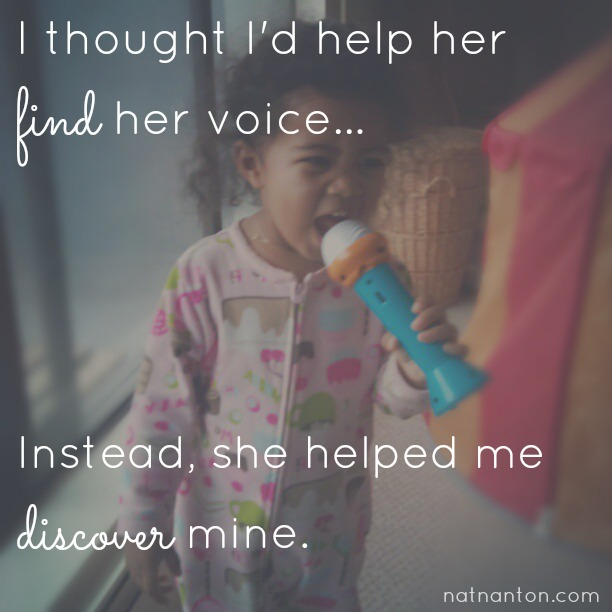 Find your voice in motherhood.