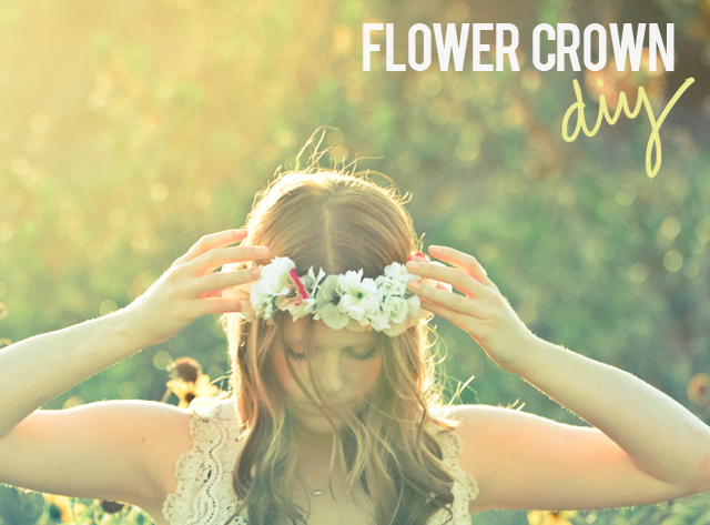 DIY flower crown by Calico Skies