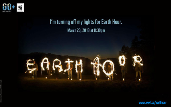 Earth Hour March 23, 2013