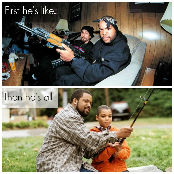 Ice Cube gangsta to dadsta